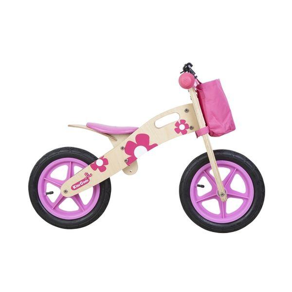 Bicicleta de madera rosada Kidscool - babytuto.com