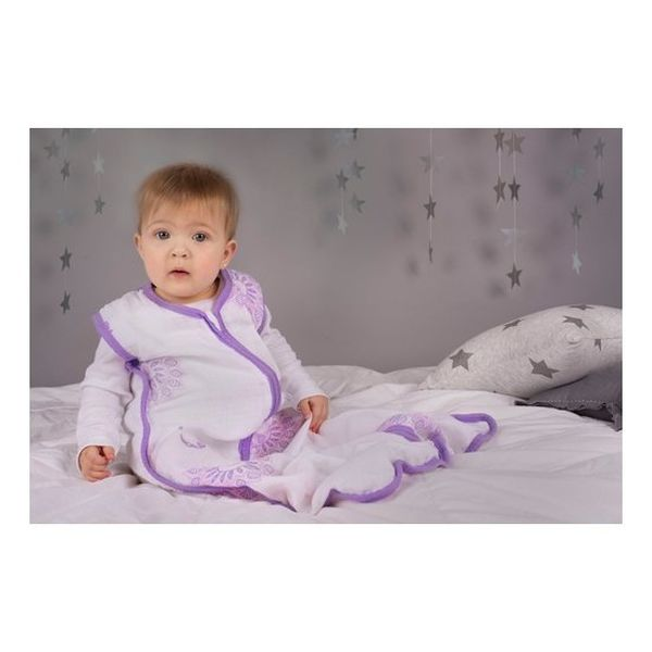 Saco para dormir muselina, morado, Bambino Bambino - babytuto.com