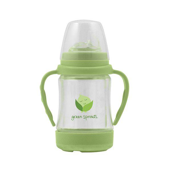 Vaso de vidrio con boquilla múltiple verde Green Sprouts Green Sprouts - babytuto.com