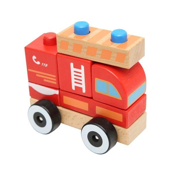 Juguete de madera bombero Baby Way Baby Way - babytuto.com