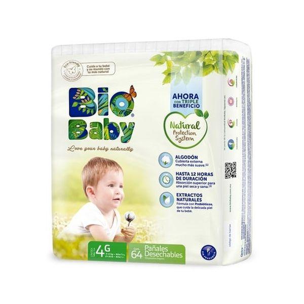 Pañales Desechables Ecológicos Premium Biobaby Talla: G (9- 13 kg) 64 uds Biobaby - babytuto.com