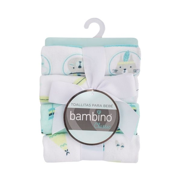 Pack 8 toallitas de algodón adventure niño Bambino Bambino - babytuto.com