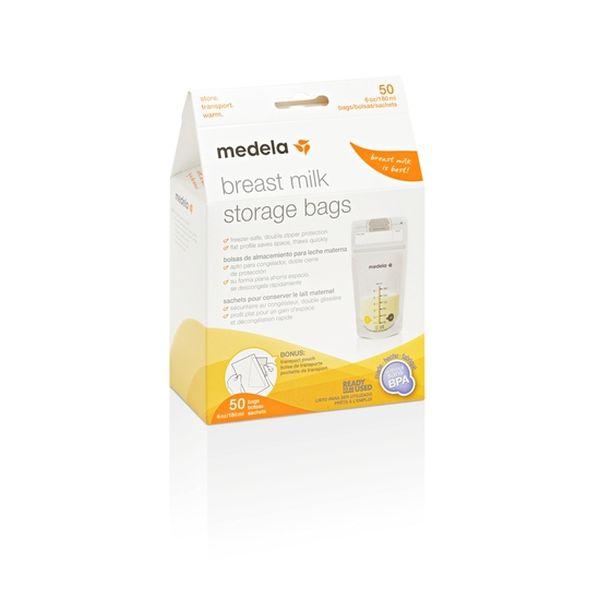 Bolsa para almacenar leche materna, 180 ml, 50 uds, Medela Medela - babytuto.com