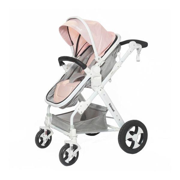 Coche cuna de paseo 6 en 1 rosado Kidscool Kidscool - babytuto.com