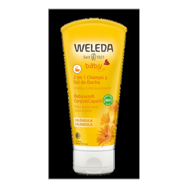 Champú y gel de ducha de caléndula, 200 ml, Weleda Weleda - babytuto.com