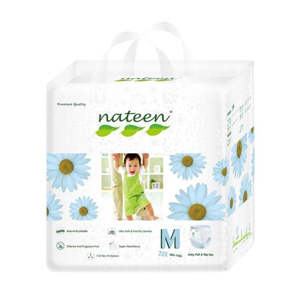Pañales De Entrenamiento Premium Nateen Talla: M (4 - 9 Kg) 20 uds Nateen - babytuto.com