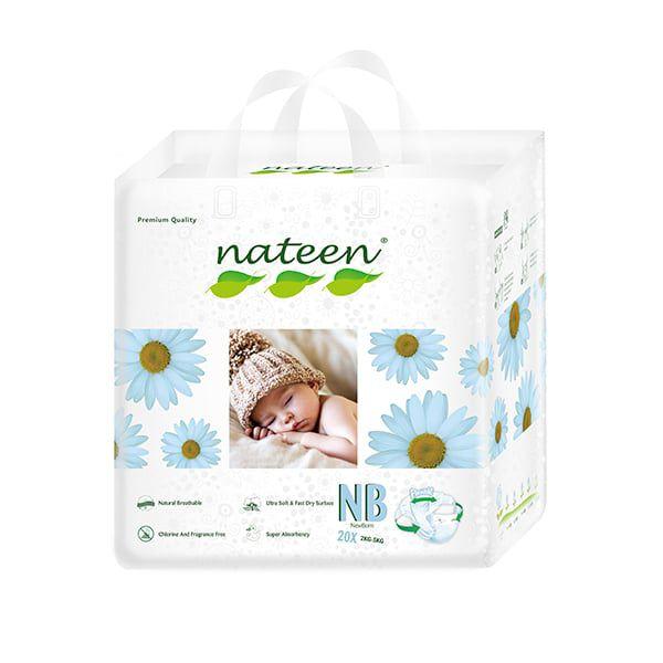 Pañales desechables Nateen Talla: RN (2 - 5 Kg) 20 uds Nateen - babytuto.com
