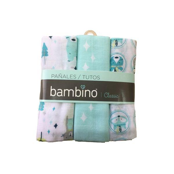 Pañal classic celeste zorrito Bambino Bambino - babytuto.com