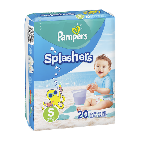 Pañales Pampers Splashers Talla S 20 unidades Pampers - babytuto.com