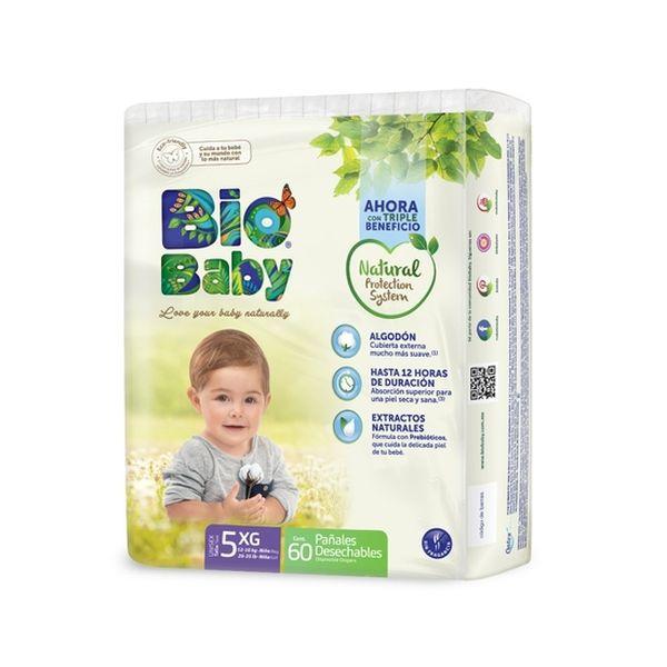 Pañales Desechables Ecológicos Bio Baby Talla: XG (12 -16 Kg) 60 uds Bio Baby - babytuto.com