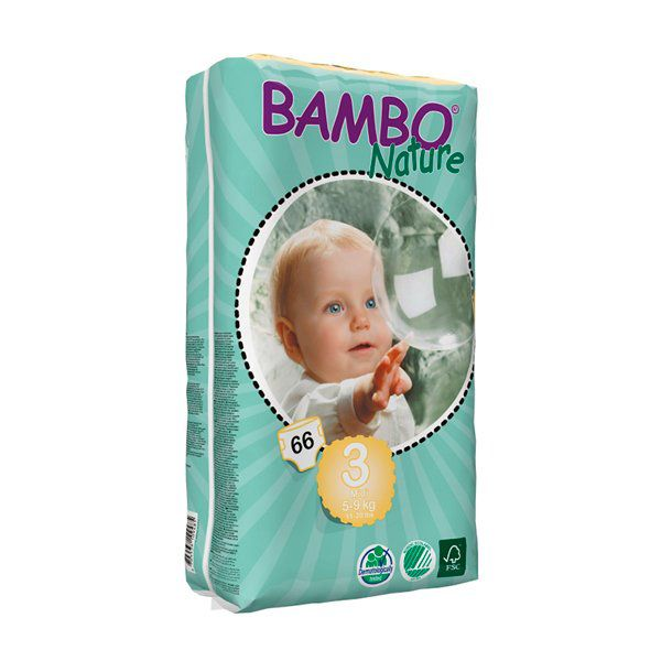 Pañales Desechables Bambo Nature Talla: M (5-9 Kg) 66 uds Bambo Nature - babytuto.com
