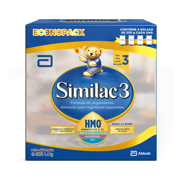 Similac 3 polvo, bib 1400 g  Similac - babytuto.com