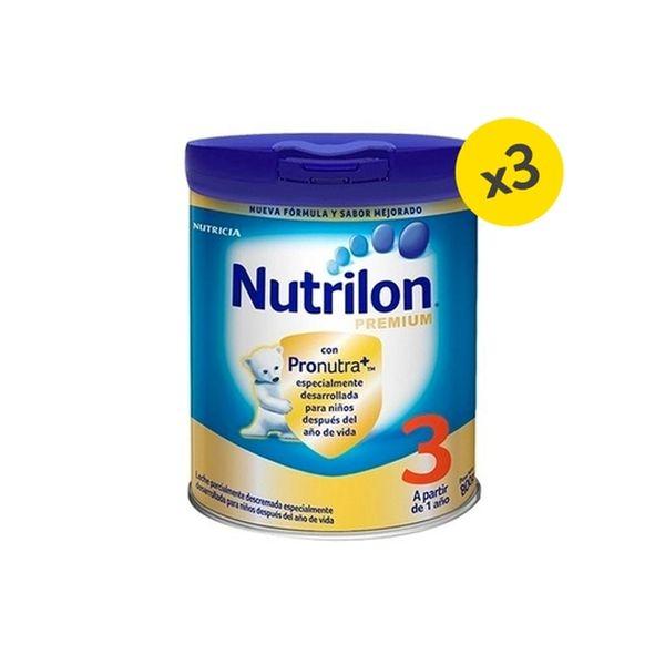 Pack Nutrilon Premium 3 de 800 g. 3 unidades Nutrilon - babytuto.com