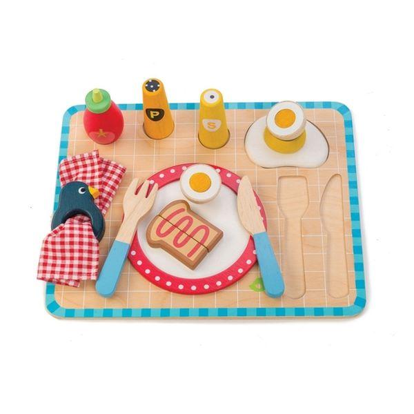 Juguete De Madera Bandeja De Desayuno ,Tender Leaf Toys Tender Leaf Toys - babytuto.com