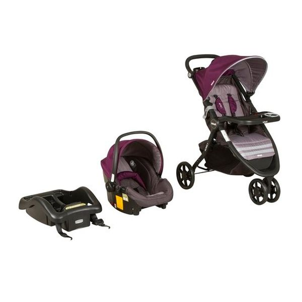 Coche travel system alpine 3 purple Infanti Infanti - babytuto.com