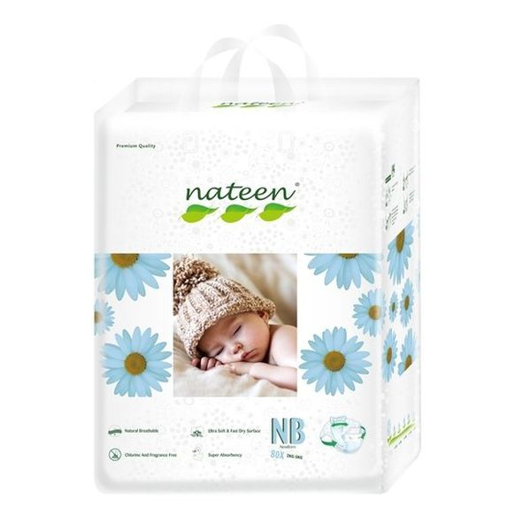Pañales Desechables Premium Nateen Talla: RN (2 - 5 Kg) 80 uds Nateen - babytuto.com