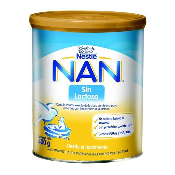 Formula infantil NAN® Sin Lactosa 400g Nestlé - babytuto.com