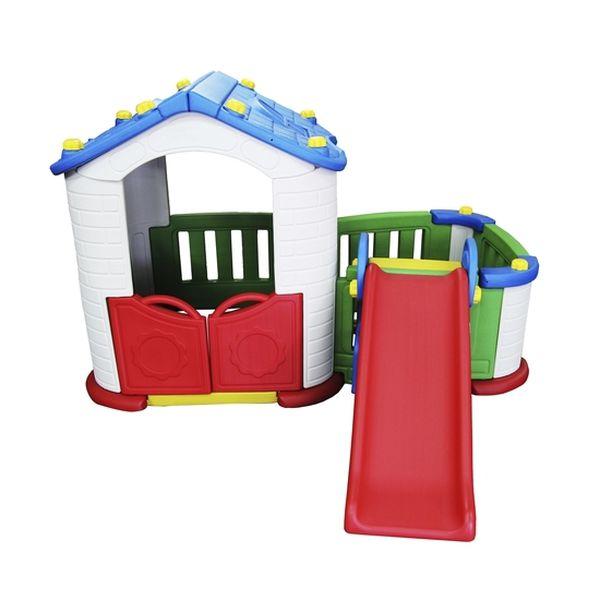 Casa de juegos con tobogán para patio Bebesit Bebesit - babytuto.com