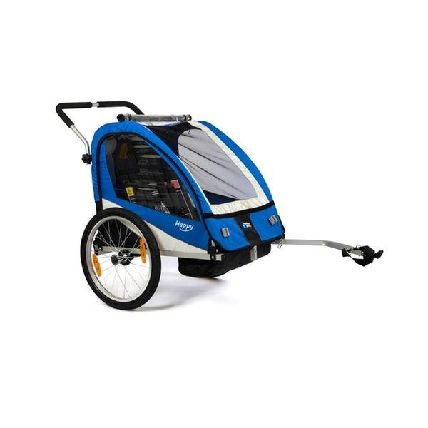 Carrito happy trailer enganche a bicicleta azul  Carrito de Paseo - babytuto.com