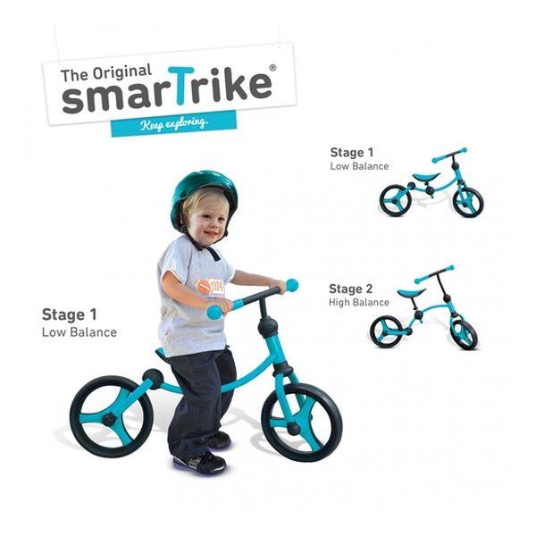 Running Bike Blue Smart Trike - babytuto.com
