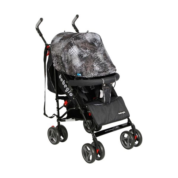 Coche paragua cinturón de seguridad 5 puntas gris Bebeglo BEBEGLO - babytuto.com