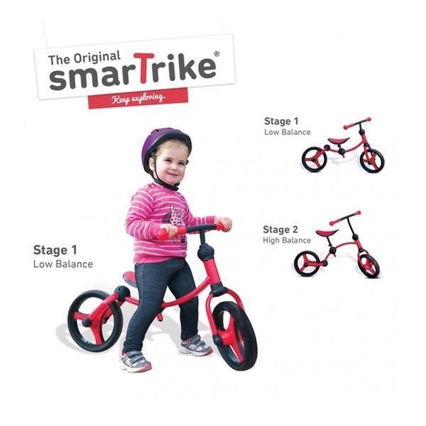 Running Bike Red Smart Trike - babytuto.com