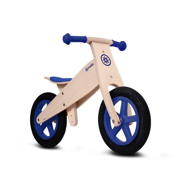 Bicicleta de madera clásica Roda azul Roda - babytuto.com