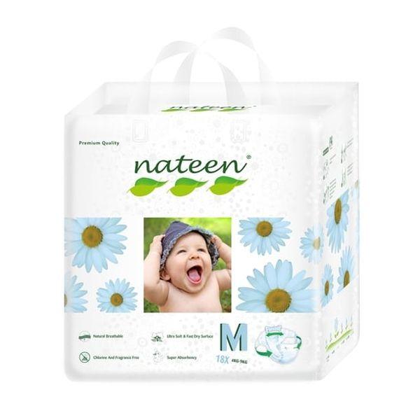 Pañales Desechables Premium Nateen Talla: M (4 - 9 Kg) 18 uds Nateen - babytuto.com