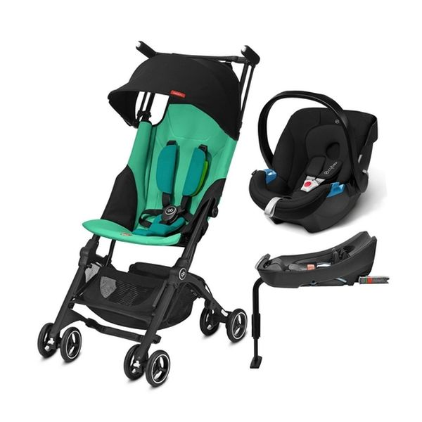 coche travel system pockit plus blue turquoise aton. Black Bedroom Furniture Sets. Home Design Ideas