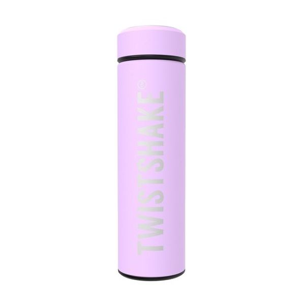 Botella térmica 420 ml acero inoxidable morado pastel Twistshake Twistshake - babytuto.com
