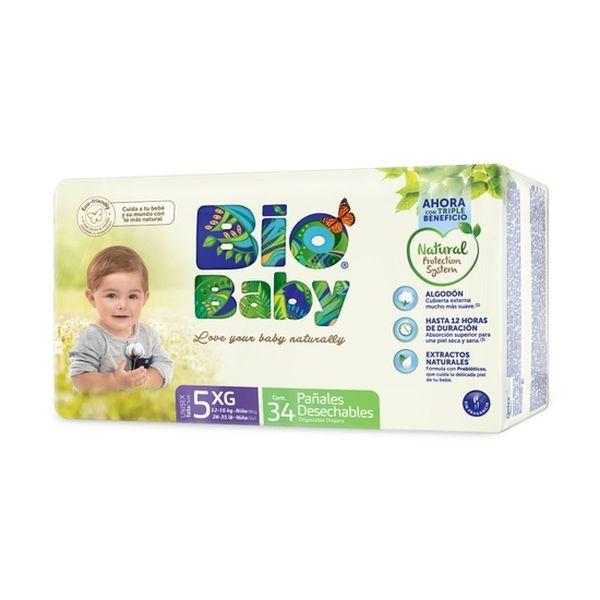 Pañal Desechable Premium Ecológico Bio Baby Talla: XG (12 - 16 Kg) 34 uds Bio Baby - babytuto.com