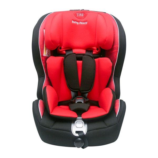 Silla de auto convertible etapa 1, 2 y 3 Isofix roja Baby Shield > Baby Shield