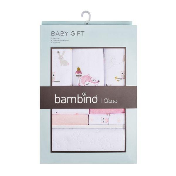 Caja de regalo niña animales rosa Bambino Bambino - babytuto.com