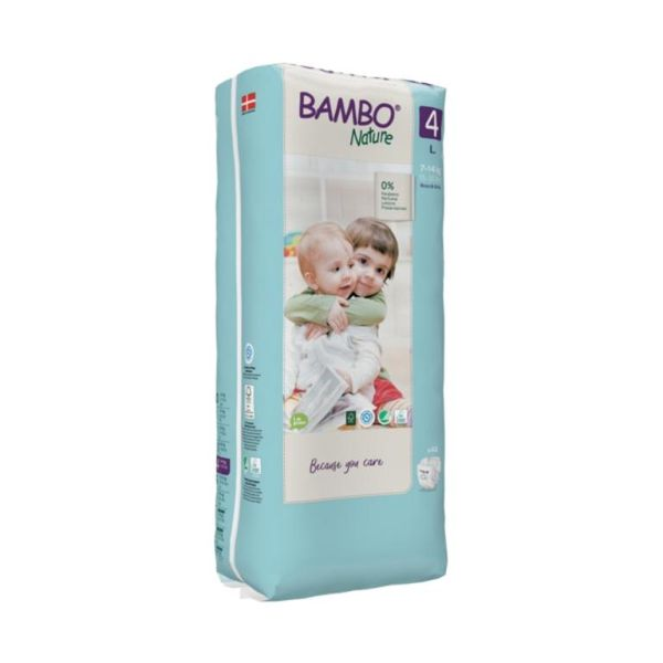 Pañales desechables Bambo Nature Eco-Friendly  Talla: L (7 - 14Kg), 48 uds Bambo Nature - babytuto.com